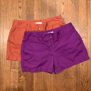 Two pairs of LOFT shorts